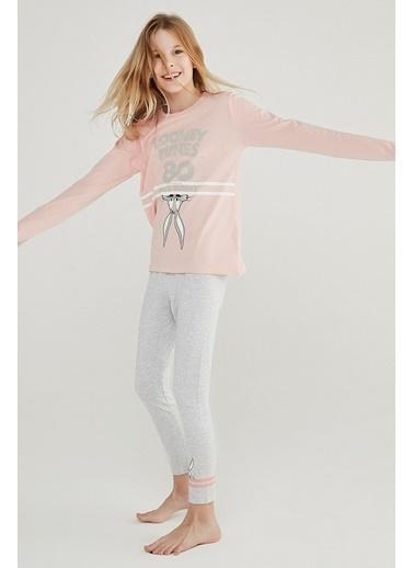 Penti Kız Çocuk Çok Renkli Teen Looney 2'li Pijama Takım PN0QWD8V20SK Renkli